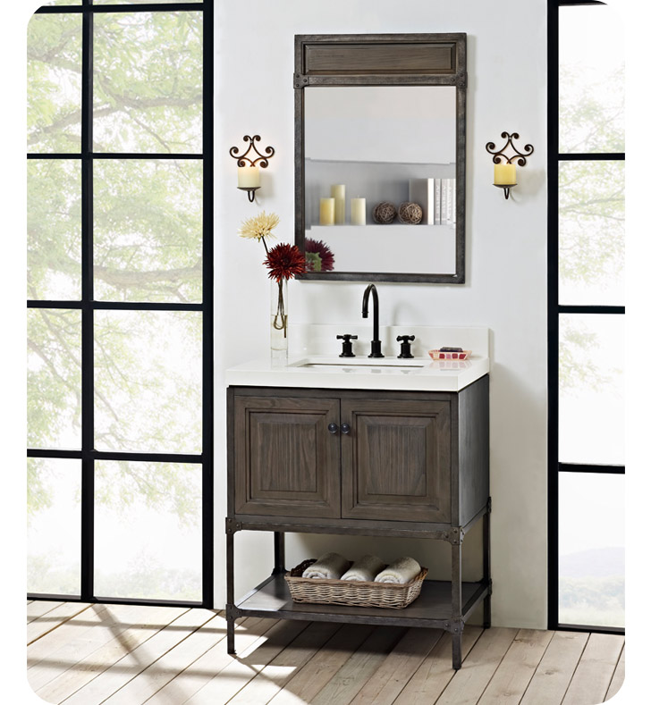 Fairmont Designs 1401 30 Toledo 30 Inch Traditional Bathroom Vanity In A Grey Finish