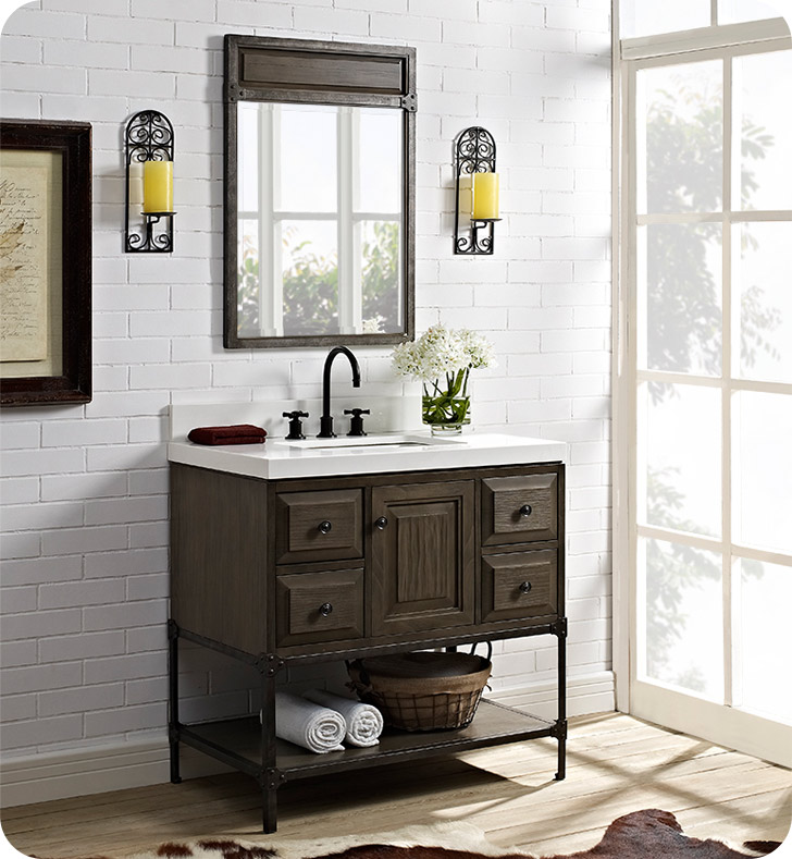 Fairmont Designs 1401 36 Toledo 36 Inch Traditional Bathroom Vanity In A Grey Finish