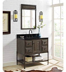 Fairmont Designs Toledo 36 inch Traditional Bathroom Vanity in a Grey Finish