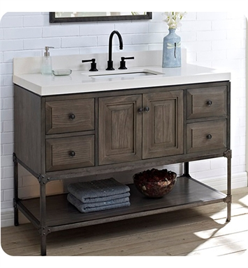 1401 48 Fairmont Designs Toledo 48 Inch Traditional Bathroom Vanity In A Grey Finish