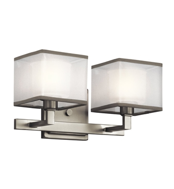 Kichler 45438NI Kailey Collection Bath 2 Light Incandescent in Brushed Nickel