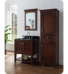 Fairmont Designs Shaker Americana 30 inch Open Shelf Vanity in Habana Cherry