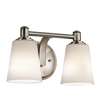 Kichler 45454CLP Quincy Bath 2 Light in Classic Pewter