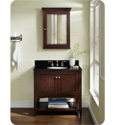 Fairmont Designs Shaker Americana 36 inch Open Shelf Vanity in Habana Cherry