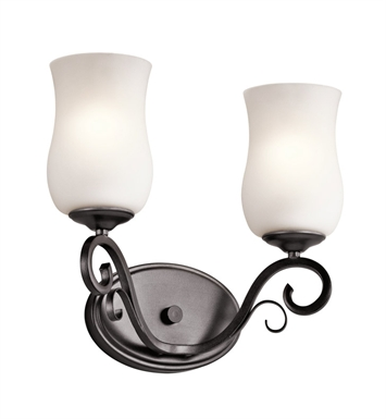 Kichler 45466SMG Kambry Collection Bath 2 Light in Smokey Gray