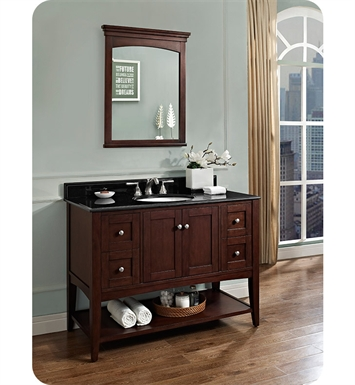 Fairmont Designs Shaker Americana 48 inch Open Shelf Vanity in Habana Cherry