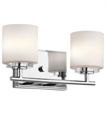"Kichler 45501CH O Hara 2 Light 13"" Halogen Wall Mount Bath Light in Chrome"