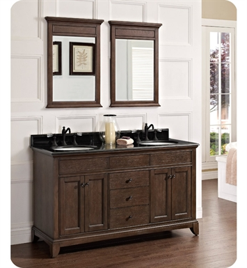 Fairmont Designs 1503-V6021D Smithfield 60 inch Double Bowl Vanity in Mink