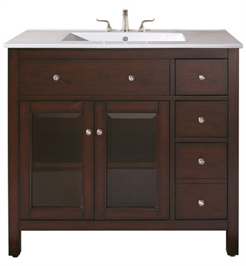 "Avanity LEXINGTON-V36-LE Lexington 36"" Light Espresso Antique Bathroom Vanity"