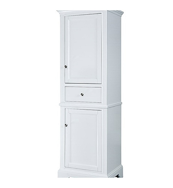 "Fairmont Designs 1502-HT2118_V2118 Framingham 21"" Linen Tower in Polar White"