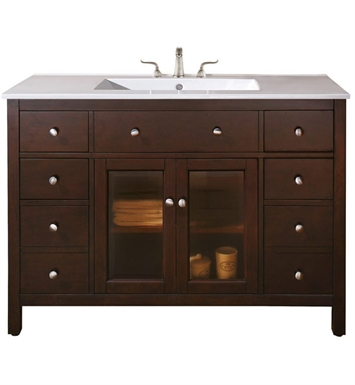 "Avanity LEXINGTON-V48-LE Lexington 48"" Light Espresso Antique Bathroom Vanity"