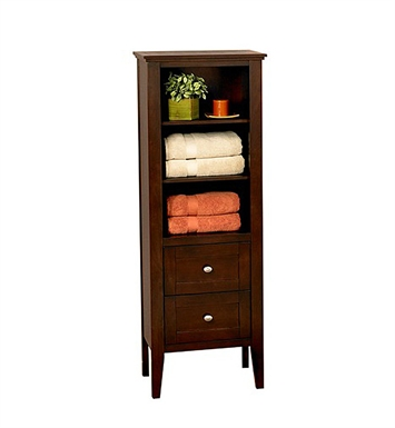 "Fairmont Designs 104-LT21 Bowtie 21"" Linen Tower in Espresso"