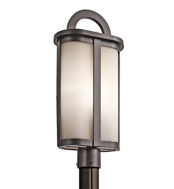 Kichler 49471AZ Rivera Collection Outdoor Post Mount 1 Light in Architectural Bronze