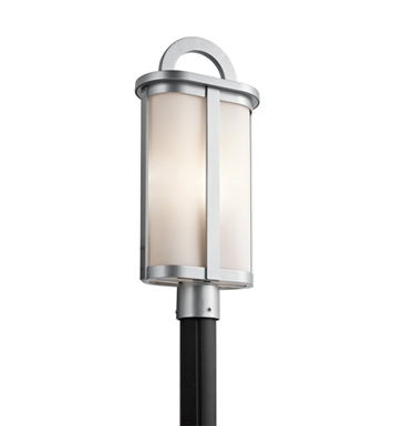 Kichler 49471PL Rivera Collection Outdoor Post Mount 1 Light in Platinum