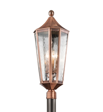 Kichler 49516ACO Rochdale Collection Outdoor Post Mount 4 Light in Antique Copper