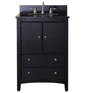"Avanity WESTWOOD-V24-EB Westwood 24"" Dark Ebony Antique Bathroom Vanity"