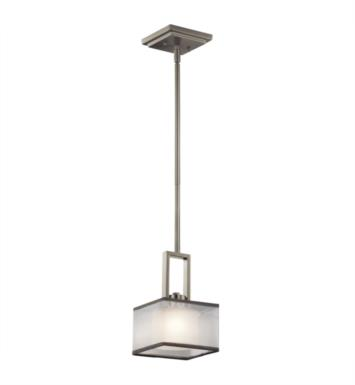 Kichler 43442NI Kailey 1 Light Halogen Mini Pendant in Brushed Nickel