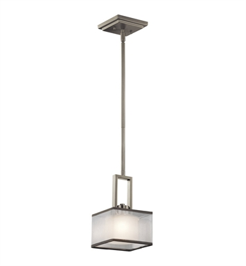 Kichler 43442NI Kailey Collection Mini Pendant 1 Light Halogen in Brushed Nickel