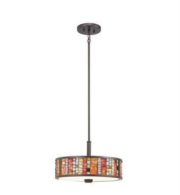 Kichler 65404 Shasteen Collection Semi Flush-Pendant 3 Light in Olde Bronze