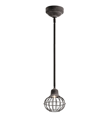 Kichler 42359WZC LED Mini Pendant in Weathered Zinc