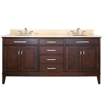 "Avanity MADISON-V72-LE Madison 72"" Light Espresso Double Sink Antique Bathroom Vanity"