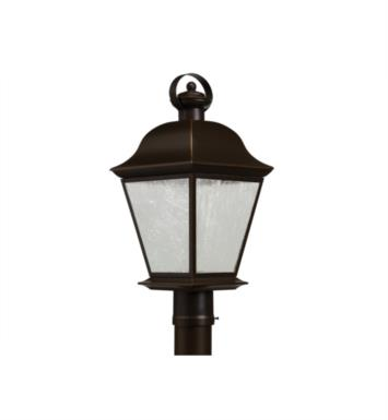 Kichler 9909OZLED Mount Vernon 1 Light LED Outdoor Post Mount Lantern in Olde Bronze