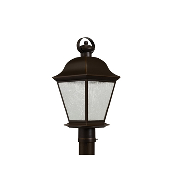 Kichler 9909OZLED Mount Vernon Collection Outdoor Post Mt 1 Light LED in Olde Bronze