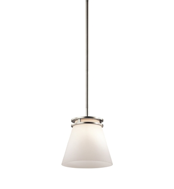 Kichler 1687NI Hendrik Collection Mini Pendant 1 Light in Brushed Nickel