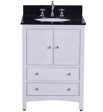 "Avanity WESTWOOD-V24-WW Westwood 24"" White Washed Antique Bathroom Vanity"