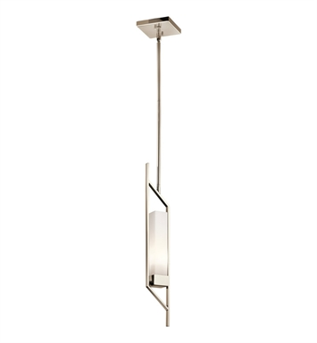 Kichler 42746PN Savina Collection Mini Pendant 1 Light in Polished Nickel