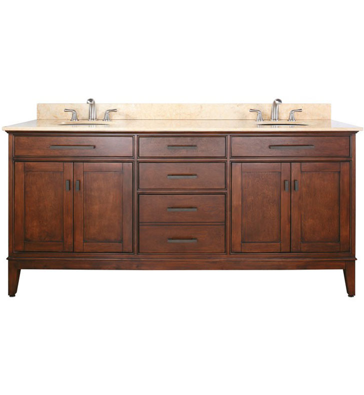 Avanity madison v72 to madison 72 tobacco double sink for Decorplanet bathroom vanities