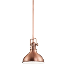 Kichler Mini Pendant 1 Light in Antique Copper