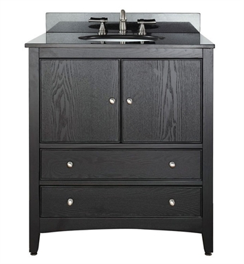 "Avanity WESTWOOD-V30-EB Westwood 30"" Dark Ebony Antique Bathroom Vanity"