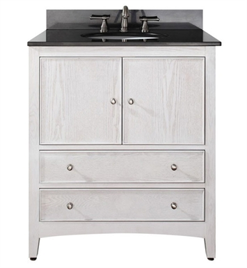 "Avanity WESTWOOD-V30-WW Westwood 30"" White Washed Antique Bathroom Vanity"