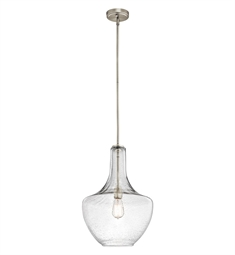 Kichler Everly Collection Pendant 1 Light in Brushed Nickel