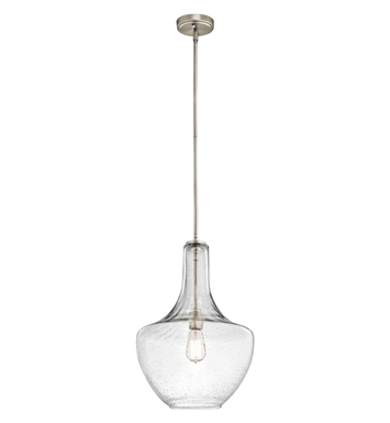 Kichler 42046NICS Everly Collection Pendant 1 Light in Brushed Nickel