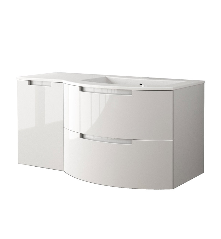 Latoscana Oa43opt3 Oasi 43 Inch Modern Bathroom Vanity With 2 Slow Close Drawers Left Side