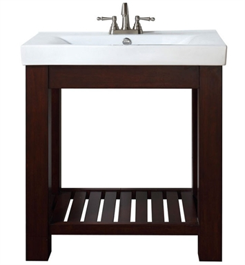 "Avanity LEXI-VS30-LE Lexi 30"" Light Espresso Modern Bathroom Vanity with Integrated Vitreous China Top"