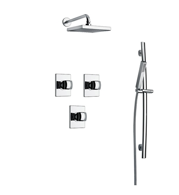 LaToscana LA-OPTION-3VCOK Lady 3VC Shower System with Showerhead, Slidebar and Handshower With Finish: Gold