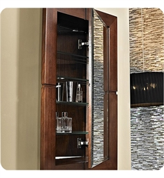 "Fairmont Designs Windwood 22"" Semi-recess Medicine Cabinet in Natural Walnut"