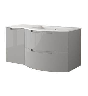 LaToscana OA53OPT3S Oasi 53 inch Modern Bathroom Vanity with 2 Slow Close Drawers Left Side Cabinet and Tekorlux Right Sink Top With Finish: Glossy Sand