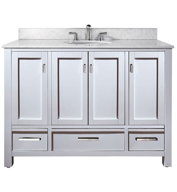 "Avanity MODERO-V48-WT Modero 48"" White Contemporary Bathroom Vanity"