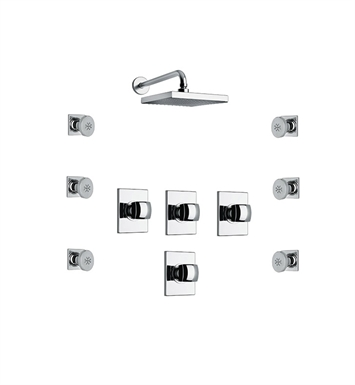 LaToscana LA-OPTION-5VCCR Lady 5VC Shower System with Showerhead and 6 Body Jets With Finish: Chrome