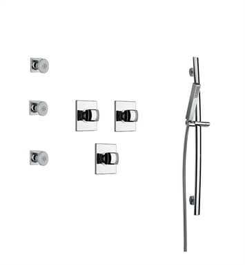 LaToscana LA-OPTION-6VCCR Lady 6VC Shower System with Slidebar, Handshower and 3 Body Jets With Finish: Chrome