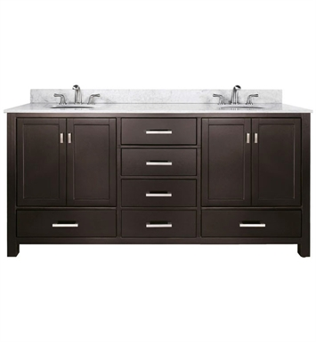 "Avanity MODERO-V72-ES Modero 72"" Espresso Double Sink Contemporary Bathroom Vanity"