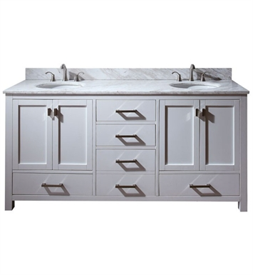 "Avanity MODERO-V72-WT Modero 72"" White Double Sink Contemporary Bathroom Vanity"