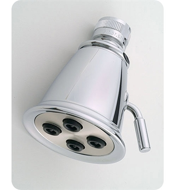 "Jaclo B718-TB Retro 2"" Multifunction Showerhead With Finish: Tristan Brass"