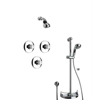 LaToscana WH-OPTION-3VC Water Harmony 3VC Shower System with Showerhead, Slidebar and Handshower