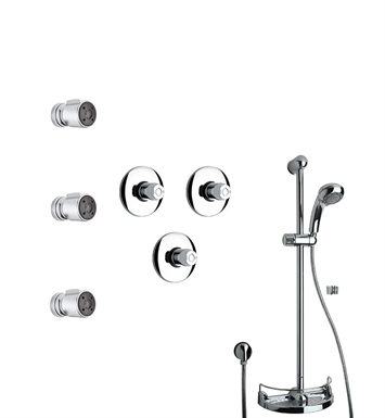 LaToscana WH-OPTION-6VC Water Harmony 6VC Shower System with Slidebar, Handshower and 3 Body Jets
