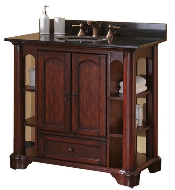 Avanity vermont v36 ma vermont 36 mahogany antique for Bathroom vanities massachusetts
